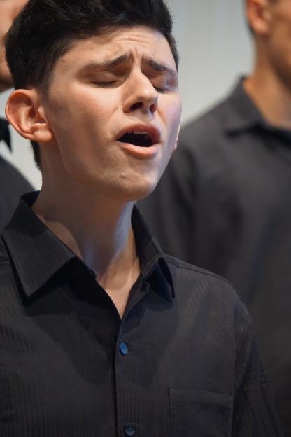 """Eric Tysarczyk beim zweiten Solo von """"Loch Lomond"""""""