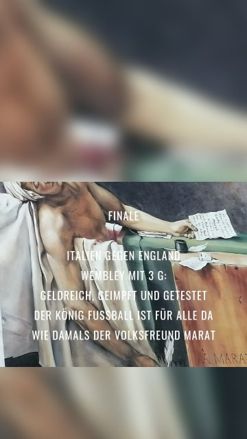 Finale Italien gegen England Wembley mit 3 G: Geldreich, geimpft und getestet Der König Fussball ist für alle da wie Damals der Volksfreund marat